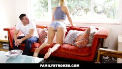Family Strokes – Creepy Brother Stalks and Fucks Step-Sister