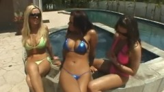 Rachel Roxxx, Nikki Benz och Eva Angelina – Foursome Pool Party