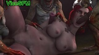 Triss Merigold fucked by monsters